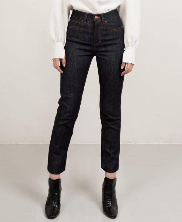 Custom fit straight jeans