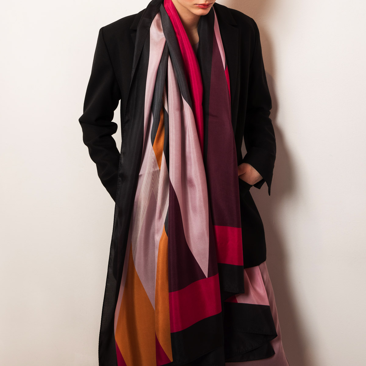 Silk scarf papilot