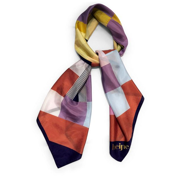 Silk scarf Lovely squares