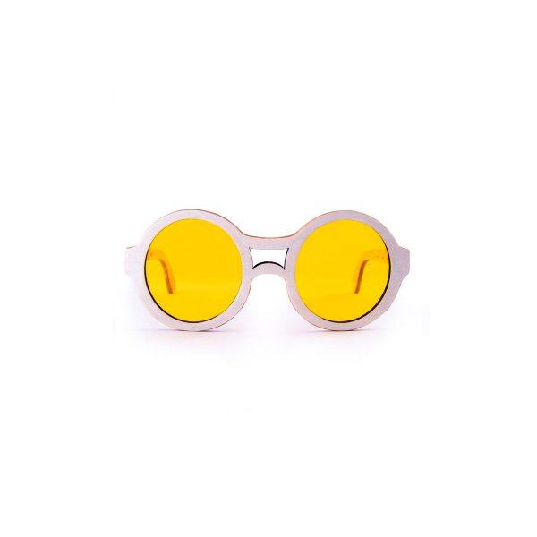 Round wooden sunglasses