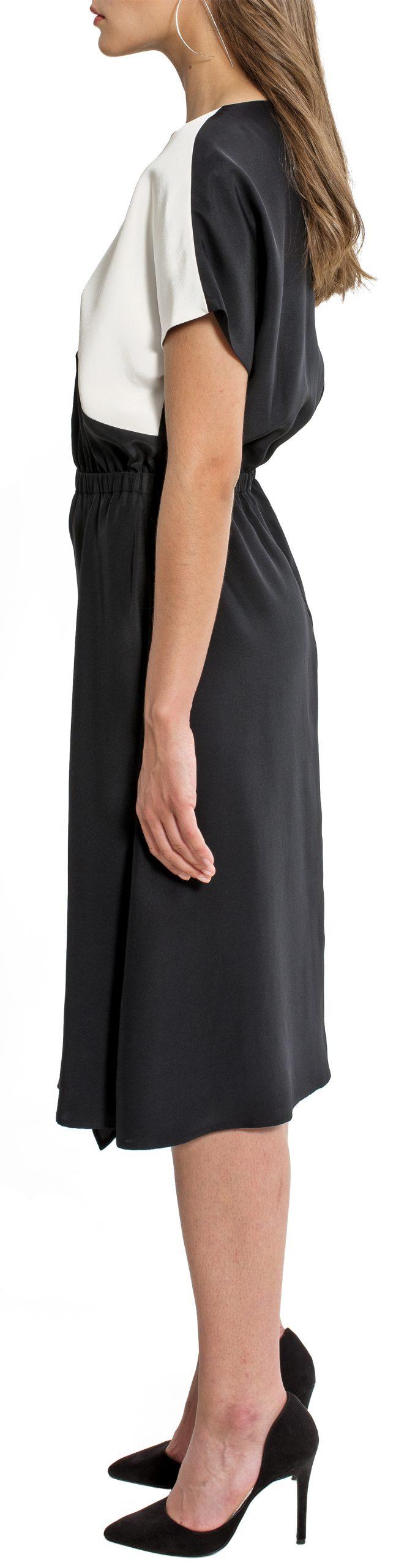 elise-leftside-belowknee-shortsleeve-roundneck-black-white