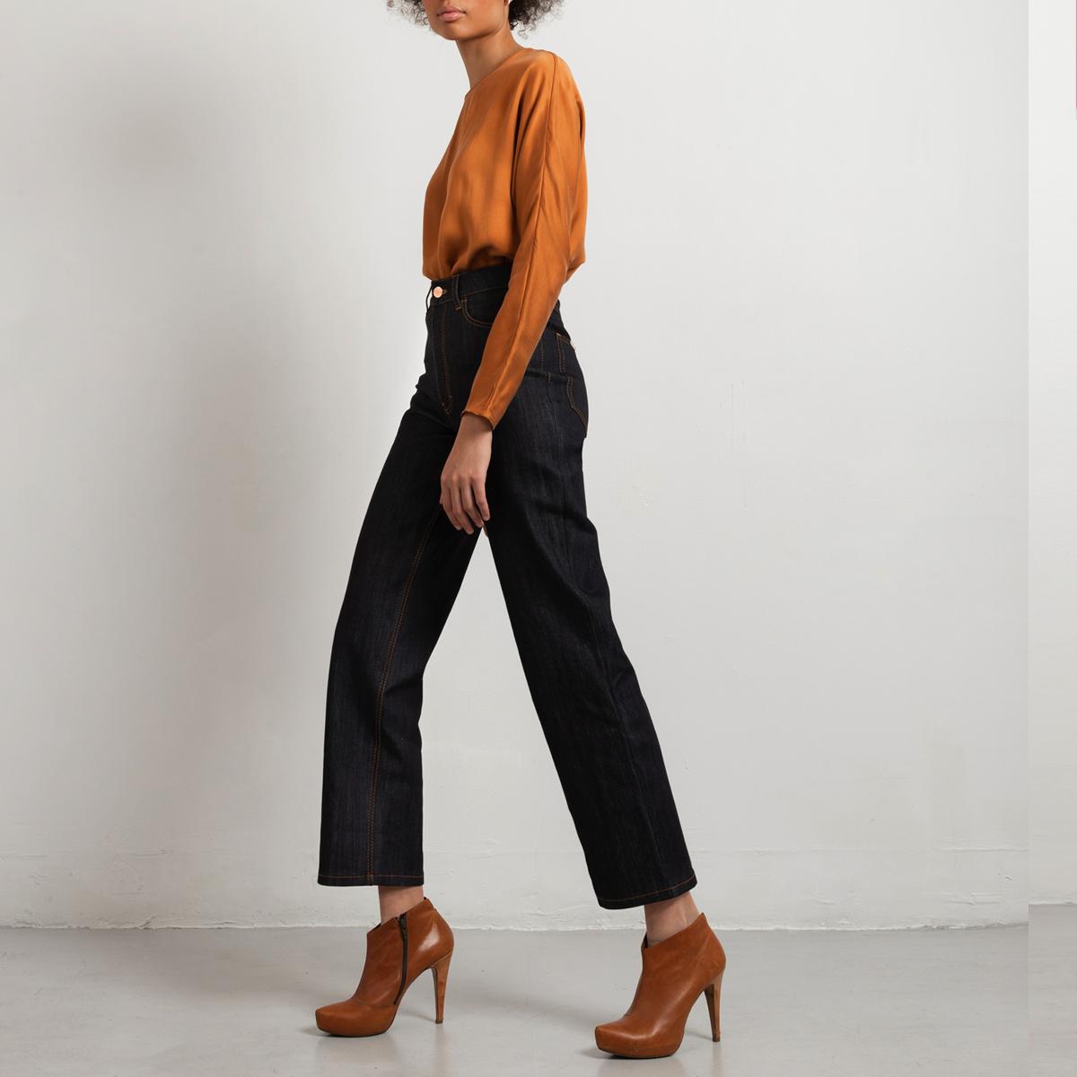 Blue wide leg jeans