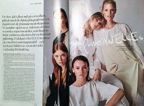 Victoria Secret model Caroline Winberg wearing Day dress/off-white