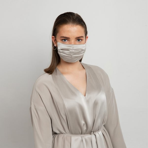 Reusable silk face mask
