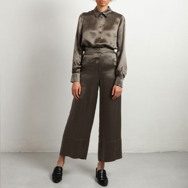 Cupro trousers