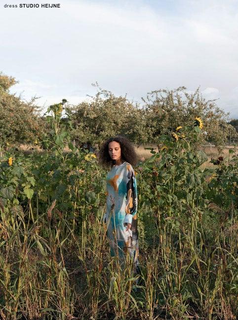 Odalisque magazine features Sunday dress by Heijne