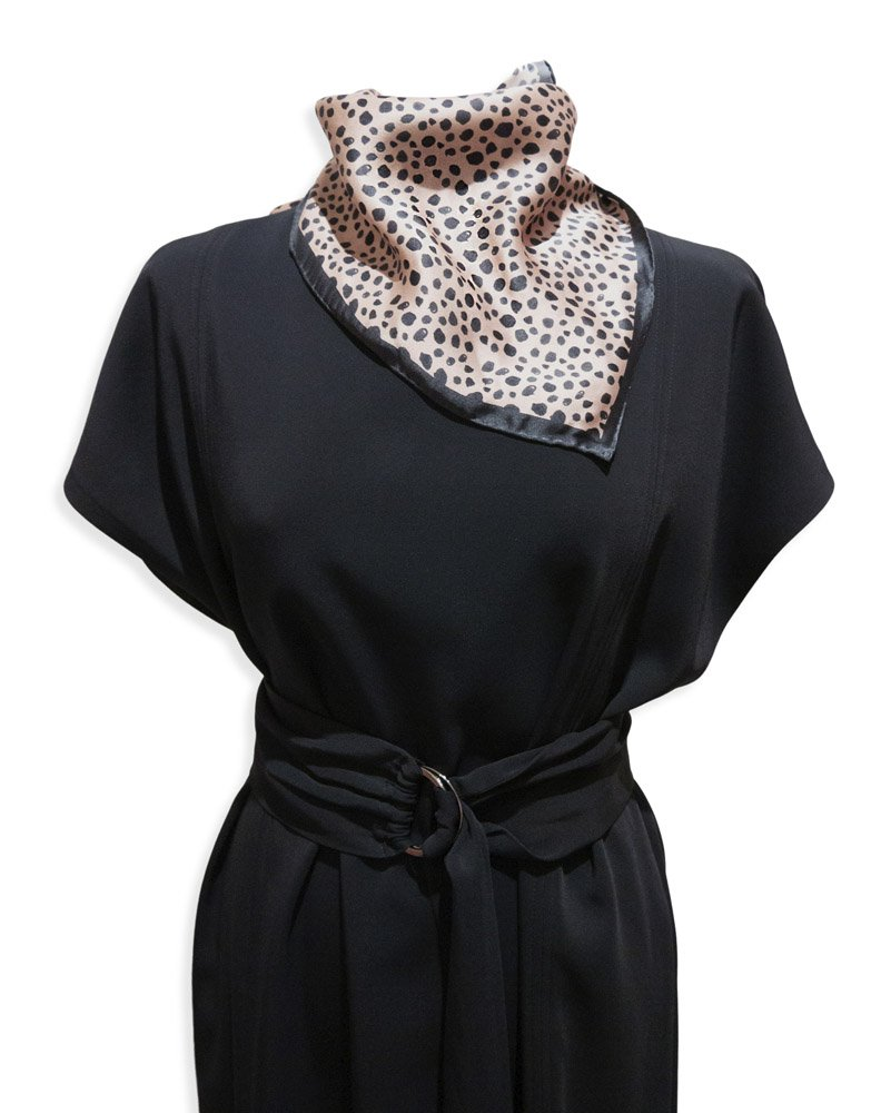 Animal inspired dot printed small silk scarf from Studio Heijne