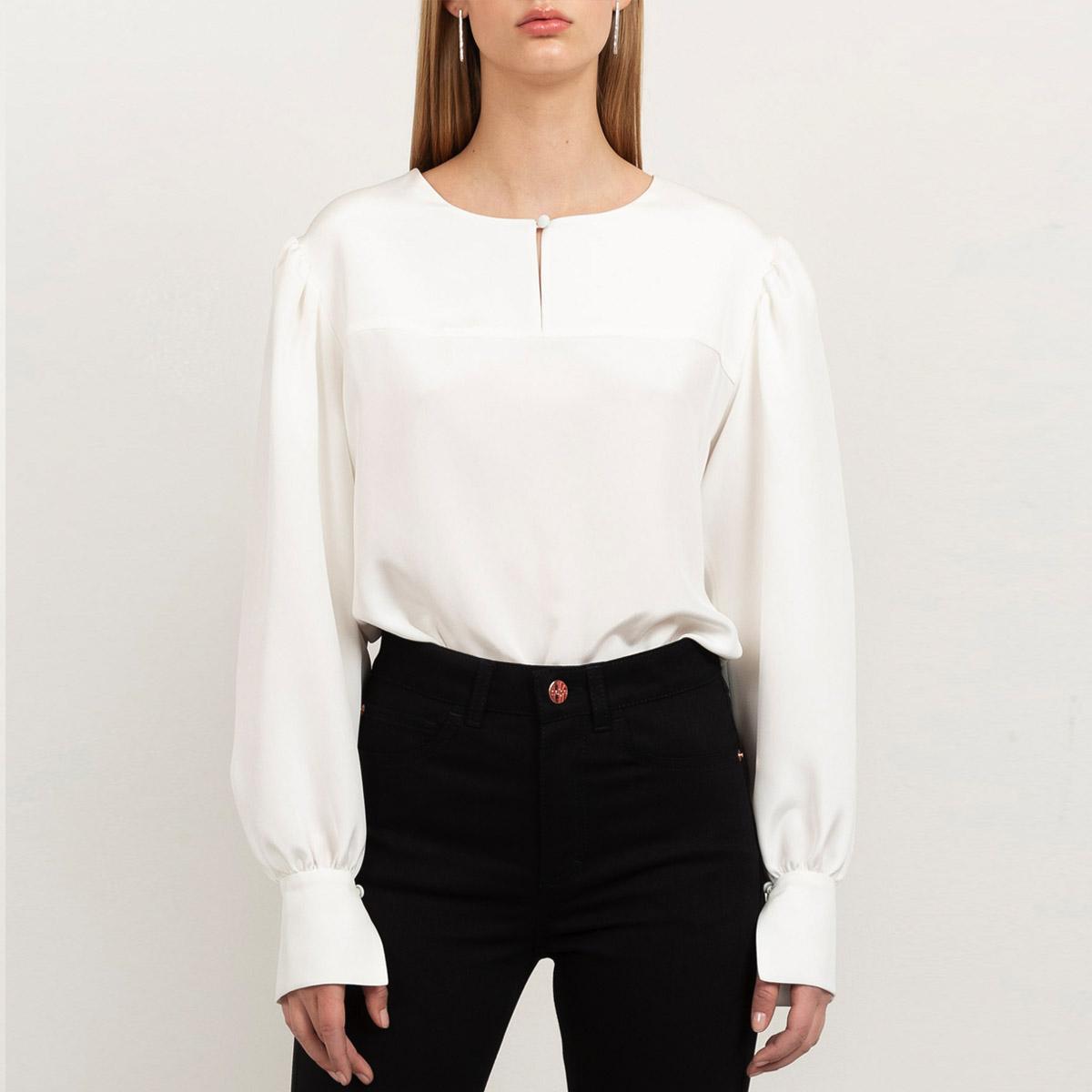 Silk crepe blouse