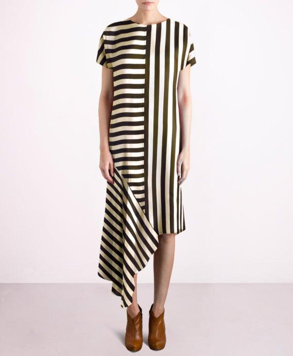 Striped dance dress