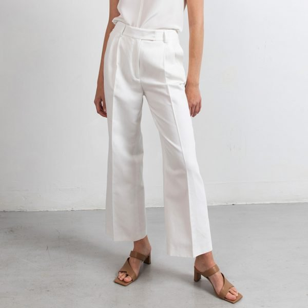 Linen cropped pants